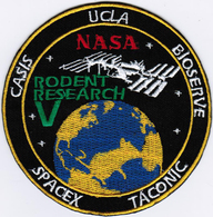 ISS Expedition 52 Dragon SPX-11 Rodent International Space Station Iron On Patch - Patches