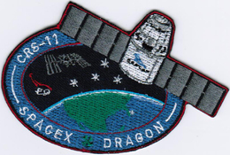 ISS Expedition 52 Dragon SPX-11 Spacex International Space Station Iron On Patch - Patches