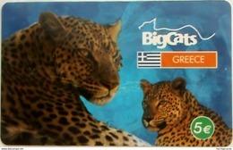 GREECE - Big Cats (Leopard), Prepaid Card 5 Euro ,used - Griechenland