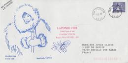 Enveloppe  NORVEGE   Raid   LAPONIE  1000 Kms  à  Ski   1988 - FDC