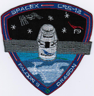 ISS Expedition 52 Dragon SPX-12 Spacex International Space Station Iron On Patch - Patches