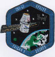 ISS Expedition 54 Dragon SPX-13 Spacex International Space Station Iron On Patch - Patches