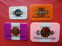 CASINO BLANKENBERGE ANNEES 1990 . 5000+10.000+20.000+50.000 FRANCS - Casino