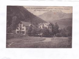 (CPA : 14 X 9)  -  HOTEL DE LA FONTAINE  (Gare De Servoz)  438.  - Route De Chamonix - Frankrijk