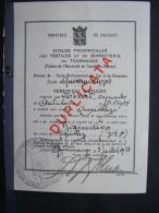 DH. 98. Certificat D'études De L'école De Bonneterie De Quevaucamps En 1938 - Documentos Históricos