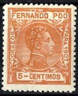 Fernando Poo Nº 156 Con Charnela - Fernando Po