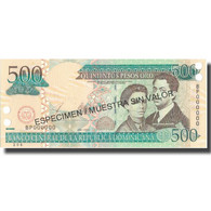 Billet, Dominican Republic, 500 Pesos Oro, 2003, 2003, Specimen, KM:172s2, NEUF - Dominicaine