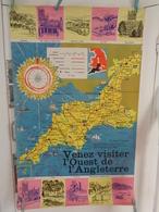 AFFICHE:  Venez Visiter L'ouest De L'Angleterre , H 101,2 L 63,5 - Affiches