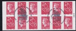 FRANCE 2007 MARIANNE CHEFFER CARNET AUTOADHESIF OBLITERE YT 4109 C1515 - Definitives