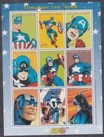 """Guinée N° 1581 / 89 XX Bande Dessinée """"Captain America"""", Les 9 Valeurs Se Tenant En Une Feuille, Sans Charnière TB - Guinea (1958-...)"""