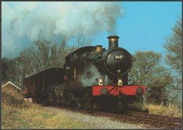 British Railways Tank Engine No 5637 - Salmon Cameracolour Postcard - Trains
