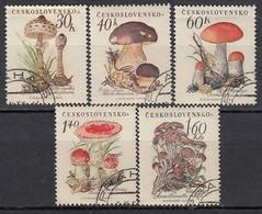 CSSR 1958 ** Pilze, Fungi, Mushrooms - MiNr.1101-1105 Kompletter Satz Used - Pilze