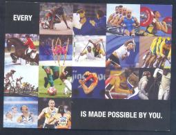 United Kingdom UK 2012 Olympic Games London Card: Football Cycling Fencing Tennis Paralympics Volunteers Stadium Gymnast - Summer 2012: London