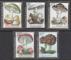 BULGARIEN 1991  - Giftpilze MiNr: 3886-3890 - Pilze