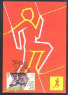 United Kingdom UK 2012 Olympic Games London Maximum Card, Athletics Mo Farach 5000m, Olympic Park E20 Flag Cancellation - Summer 2012: London