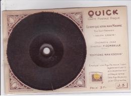 CARTE POSTALE DISQUE QUICK : Vinyl, Ce N'est Que Votre Main Madame - Tres Bon Etat - Autres