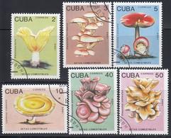 KUBA 1989  - Speisepilze  MiNr: 3257-3262 Komplett  Used - Pilze
