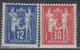DDR  243-244, Postfrisch *, Postgewerkschaft 1949 - DDR