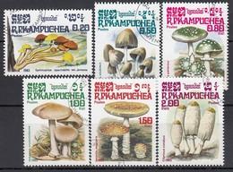 KAMBODSCHA 1985  - Pilze  MiNr: 648-653  Used - Pilze
