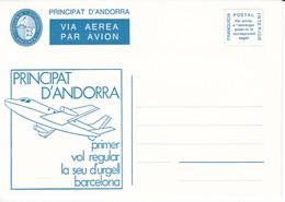 ANDORRA - VEGUERIA EPISCOPAL - SOBRE - 1º VUELO SEU D'URGELL AÑO 1982 - Vegueria Episcopal