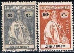 Lourenço Marques, 1914, # 125/6, MH - Lourenco Marques