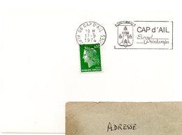 FAUNE / ABEILLE = 06 CAP D' AIL 1974 = FLAMME SECAP  Illustrée De 3 ABEILLES Dans ARMOIRIES' ETERNEL PRINTEMPS' - Marcofilia (sobres)