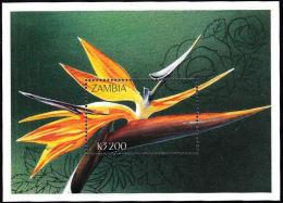 Zm9957 Zambia, Flowers Of Zambia Miniature Sheet MNH - Zambia (1965-...)