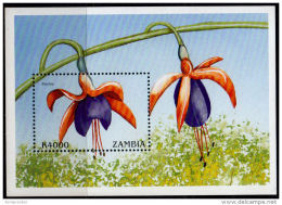 Zm9957a Zambia, Flowers Of Zambia  Miniature Sheet MNH - Zambia (1965-...)