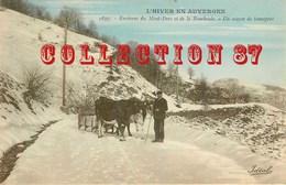 ☺♦♦ ATTELAGE De BOEUFS Avec TRAINEAU - CARTE COULEUR VOYAGEE 1907 - PAYSAN FERMIER - BOEUF - Cartoline