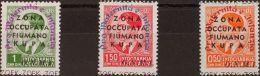 Italia . Fiume Y Kupa *Yv 19/21. 1942. Serie Completa. MAGNIFICA. (Sassone 36/38) Yvert 2012: 36 Euros. - Italia