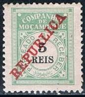 Companhia De Moçambique, 1911, # 11, Porteado, MH - Mozambique