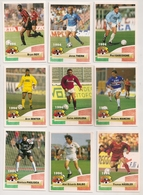 9 Cartes Panini Football 1994 Cards Official. Roy Thern Gascoigne Mancini Balbo Hassler Winter Aguilera Pagliuca - Sonstige