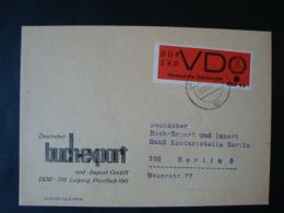 DDR , ZKD Dienstmarken D, Mi-Nr 3  Mit Eindruck ZKD 4a Auf Brief , Deutscher Buchexport Leipzig, 1968 - Service