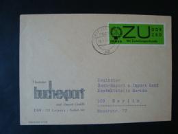 DDR , ZKD Dienstmarken E, Mi-Nr 2x Mit Eindruck ZKD 4b Auf Brief , Deutscher Buchexport, 701 Leipzig - Service