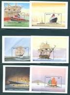 Bhutan 1989 Bl 201-212 Titanic, Famous Ships, Neuf** Sans Charniere Scott 749-760 Mint NH - Bhutan