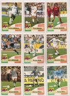 9 Cartes Panini Football 1994 Cards Official. Giannini Brolin Asprilla Melli Grun Doll Vialli Baggio Bergkamp - Sonstige