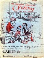 Protège-cahier  C PUZENAT  Machines Agricoles  Bourbon Lancy - Protège-cahiers