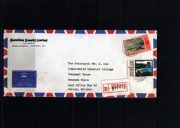 Trinidad&Tobago 1978 Interesting Airmail Registered Letter - Trinidad & Tobago (1962-...)