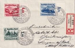 ALLEMAGNE 1939 LETTRE  RECOMMANDEE DE BERLIN AVEC CACHET ARRIVEE SINGEN - Germany