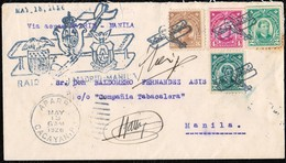 1926. VUELO MADRID - MANILA. ETAPA APARRI-MANILA. MARCAS ESPECIALES DEL VUELO Y FIRMA MANUSCRITA DEL PILOTO. - Filipinas