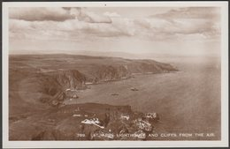 St Abbs Lighthouse And Cliffs From The Air, Berwickshire, C.1930s - RP Postcard - Berwickshire