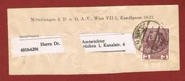 Alpenverein D O A V  Streifband  3 Heller Briefmarke 1914 - Postwaardestukken