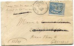 FRANCE LETTRE AFFRANCHIE AVEC UN N°101 DEPART GALATA 29 DEC 98 C. D. ARMEE POUR LA FRANCE - Marcophilie (Lettres)