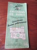 Carte Routière MICHELIN De 1948. N°95 -Environs De PARIS - Versailles / Chartres / Etampes / Melun / Tournan - 17 Photos - Roadmaps