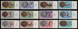 Ungarn 1965 - Mi-Nr. 2089-2100 B ** - MNH - Mit Zierfeld - Olympia Tokio - Hongrie