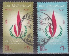 Egitto, 1968 - Human Right Flame - Nr.736/737 Usato° - Egitto