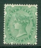 India: 1892/97   QV     SG104    2a 6p    Pale Blue-green     MH - India (...-1947)