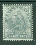 India: 1900/02   QV      SG112    3p    MH - India (...-1947)