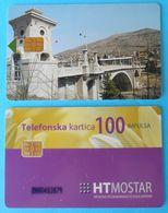 HERCEG-BOSNA ( Mostar , Croatian Part In Bosnia ) - Lot Of 2. Old Chip Cards * Bosnia And Herzegovina - Bosnia