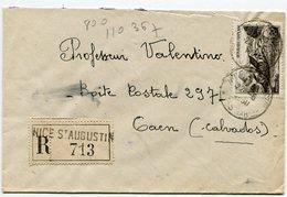 ALPES MARITIMES De NICE SAINT AUGUSTIN . Env. Recom. De 1950   Avec Dateur A 6 - Postmark Collection (Covers)